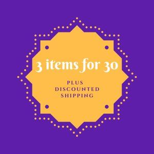 Bundle 3 items for 30